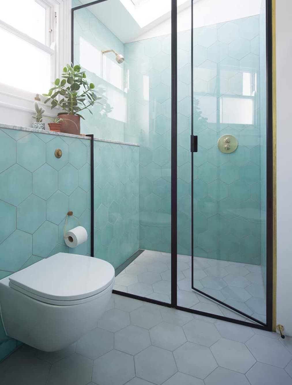 teal bathroom-2